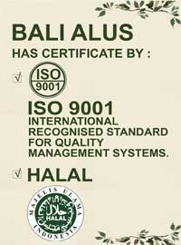 Bali Alus has been certified ISO 9001